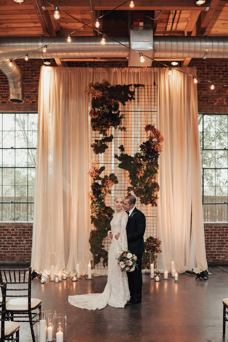 modern industrial luxe wedding cereomony ideas