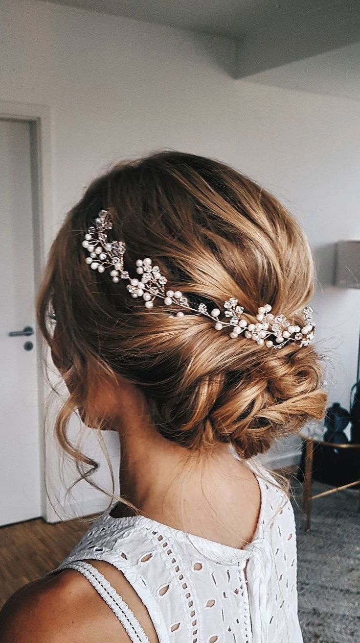 perfect curly messy updo wedding hairstyles
