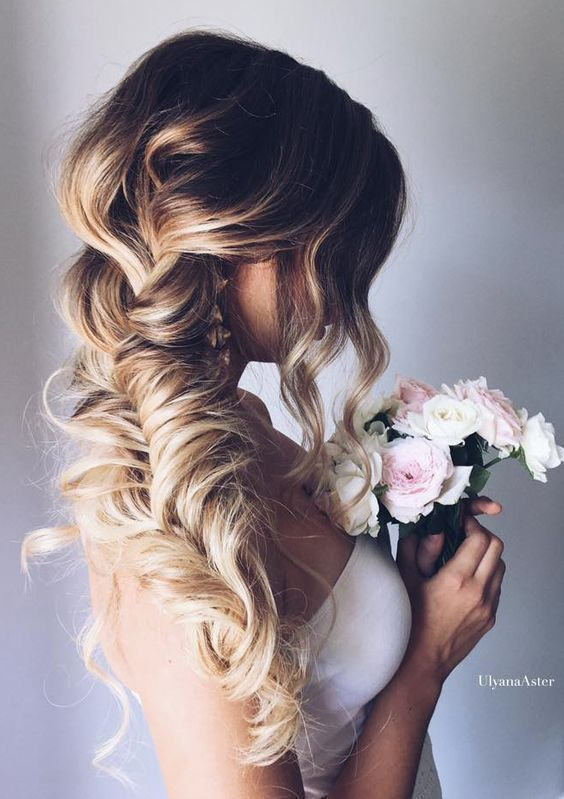 side braided bridal hairstyles