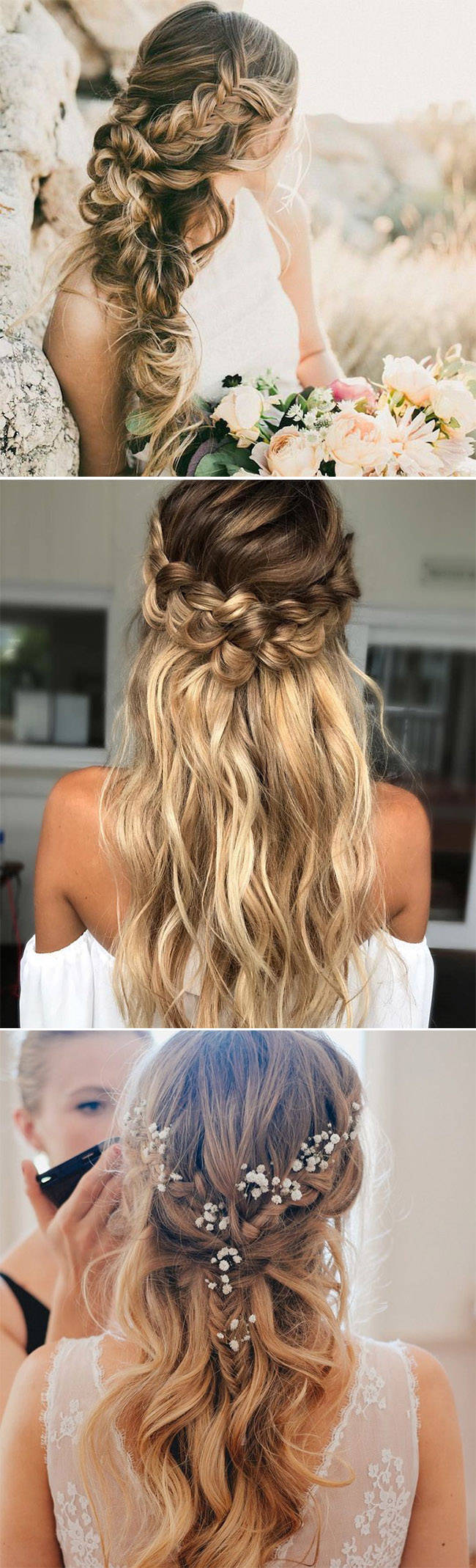 stunning bohemian braided bridal hairstyles