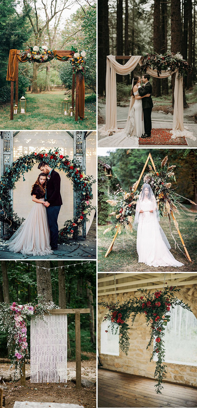 trendy floral wedding ceremony altar ideas