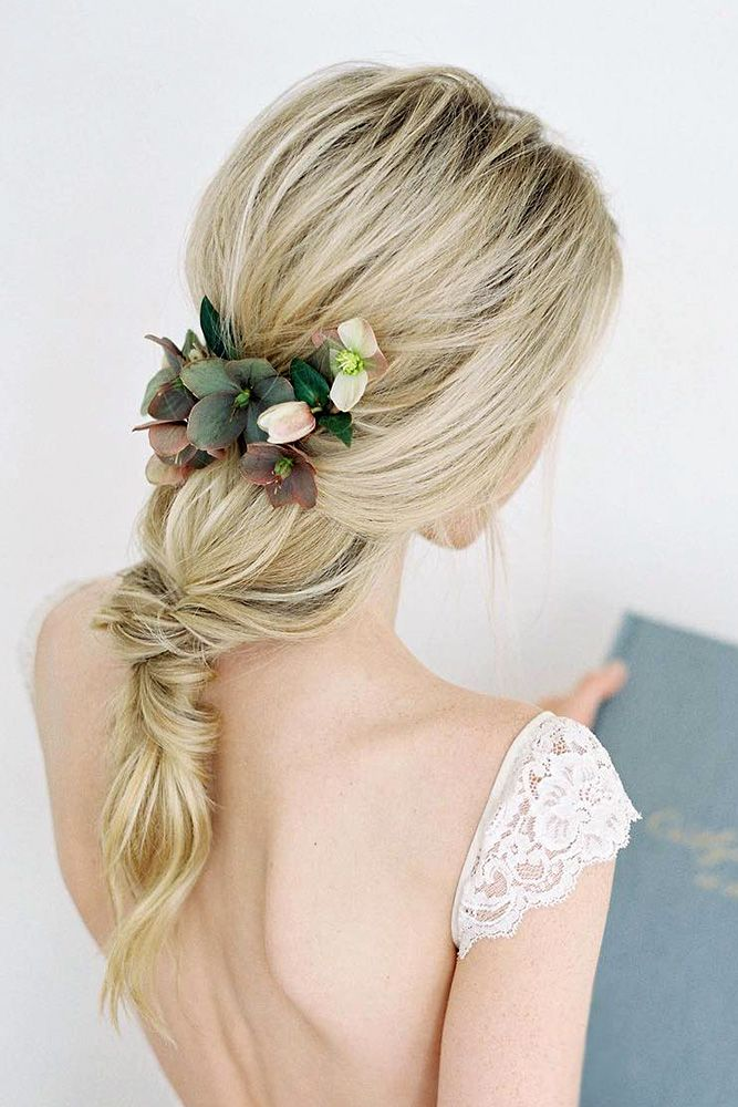 wedding hairstyle trends updo of ponytails