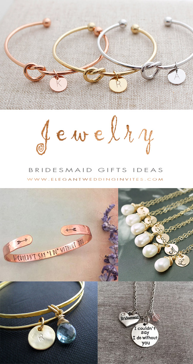 Personalized Jewelry Bridesmaid Gifts Ideas