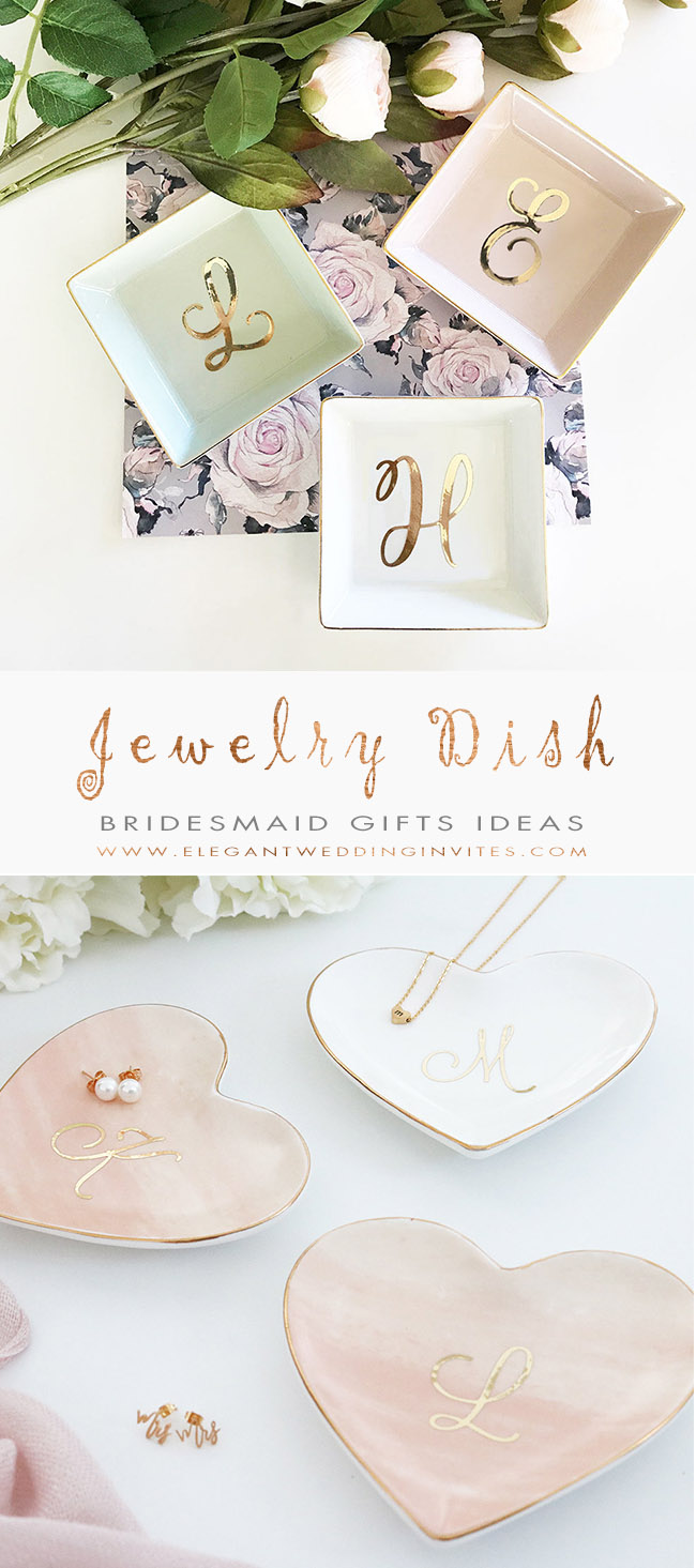 Personalized Jewelry Dish Bridesmaid Gifts Ideas