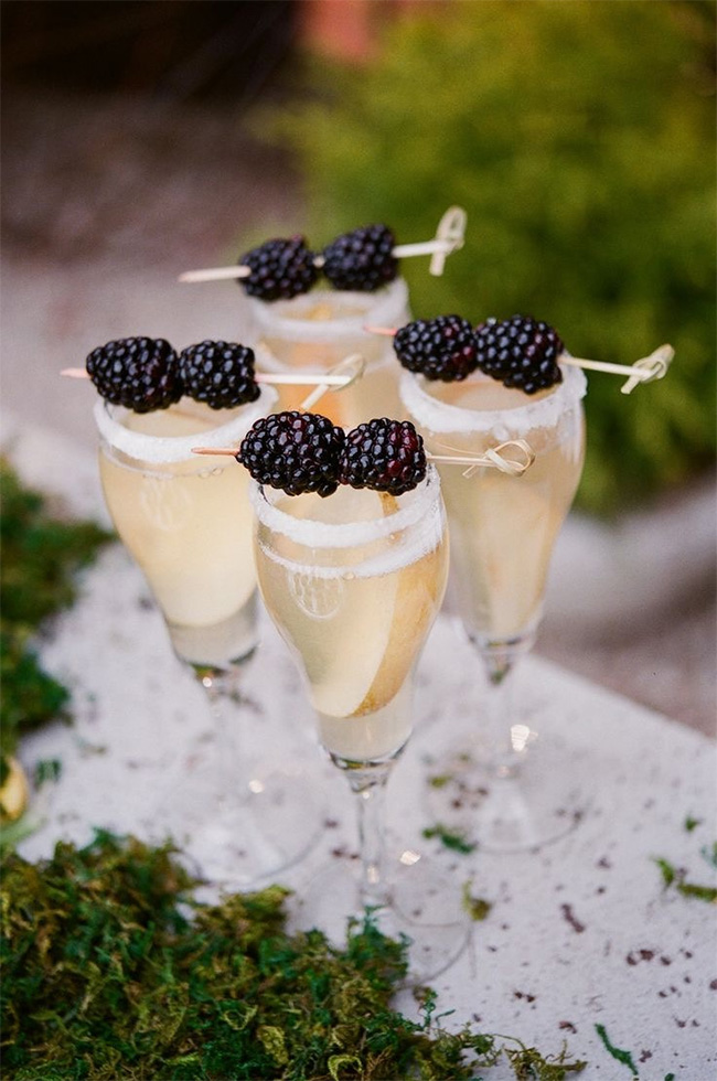 Signature Champagne Cocktails to Serve at Your Wedding