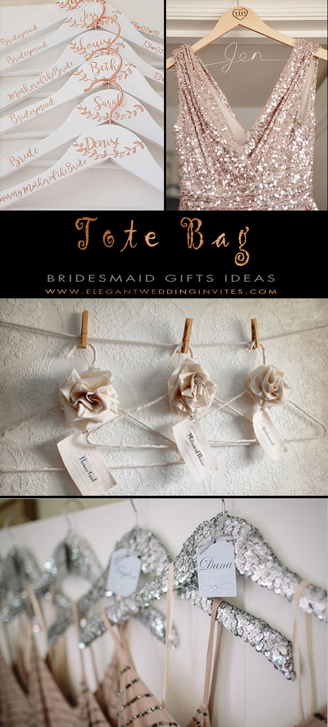 crafty bridesmaid hanger gifts from brides