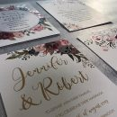 EWI Custom Full Color UV Printing Wedding Invitations