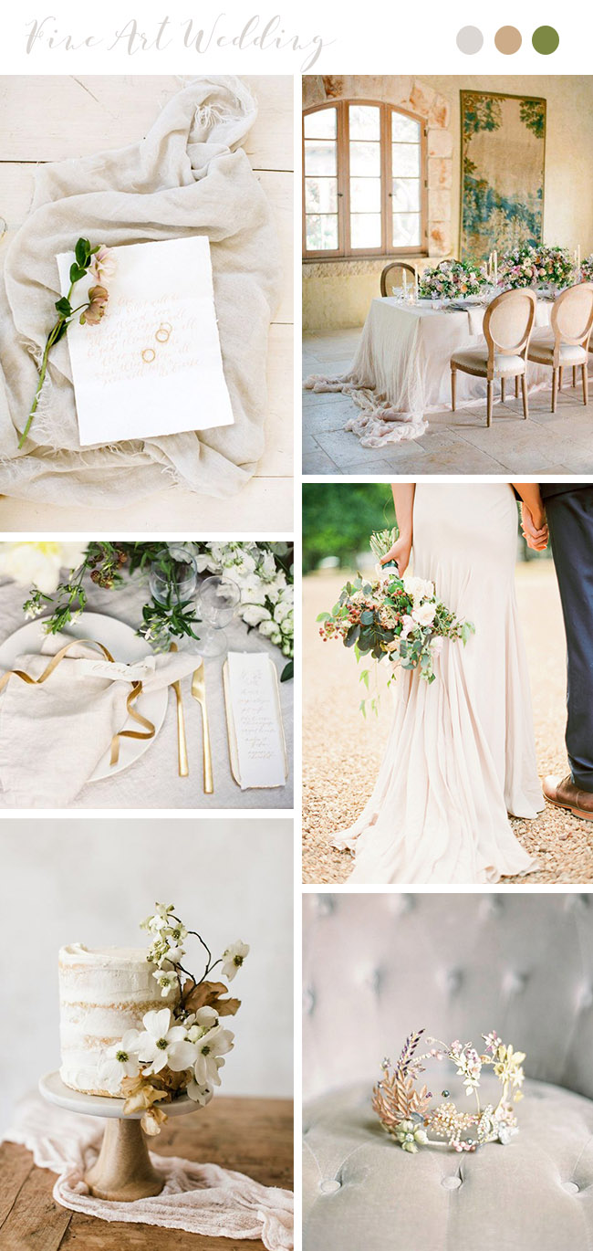 romantic ivory and dog wood neutral shades old world wedding ideas