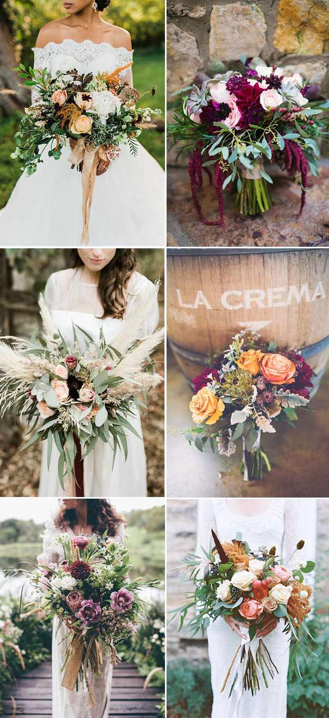 trendy fall wedding bouquets ideas for all brides