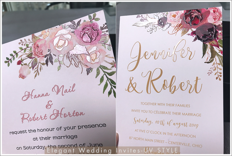 uv printing wedding invitations from Elegant Wedding Invites