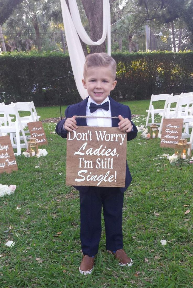 Cute Ring Bearer Signs for Rustic Country Ideas