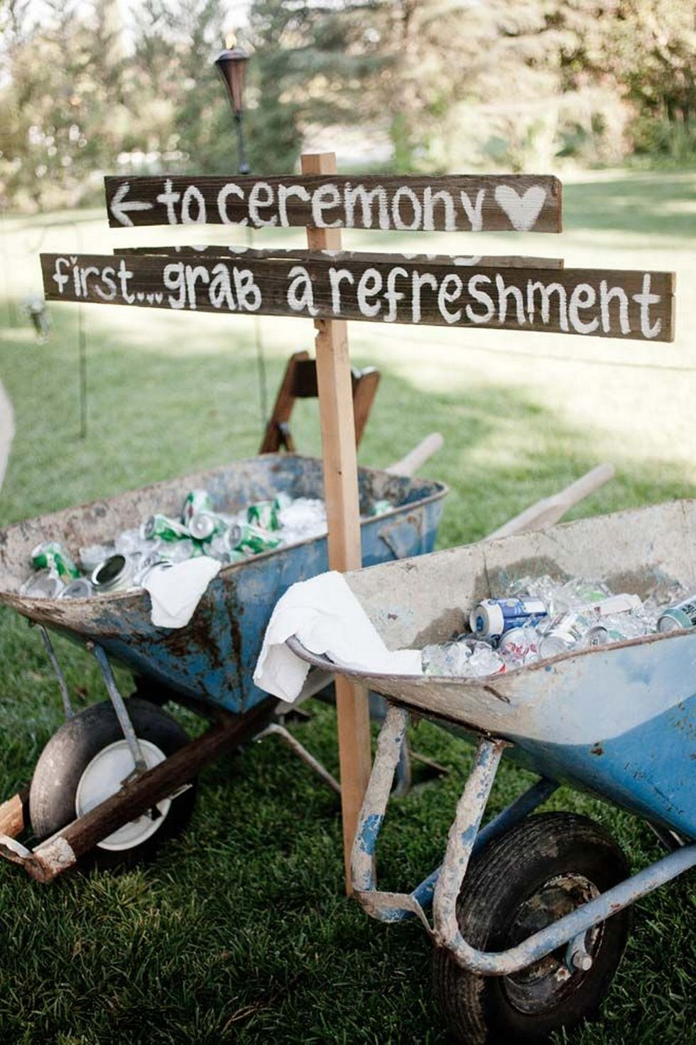 DIY Outdoor Rustic Coutry Wedding Sign Ideas