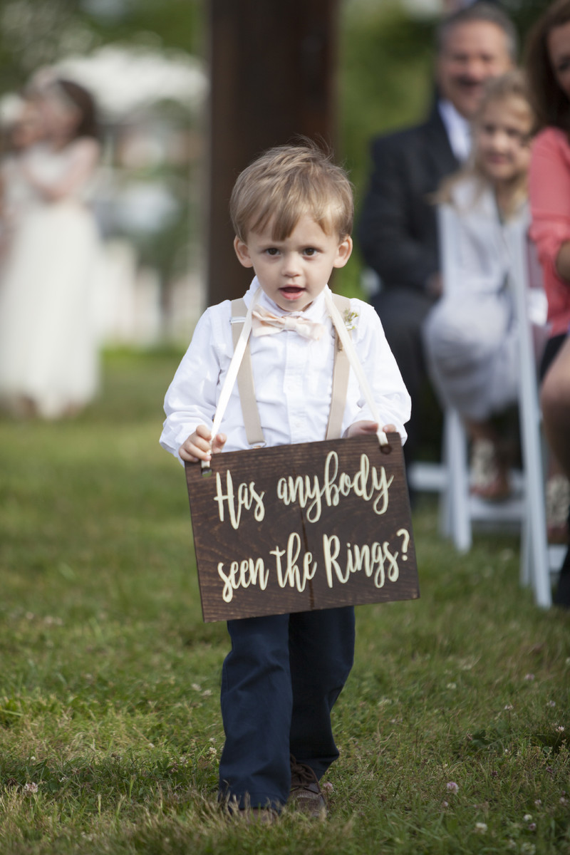 Funny Ring Bearer Sign Country Wedding Ideas
