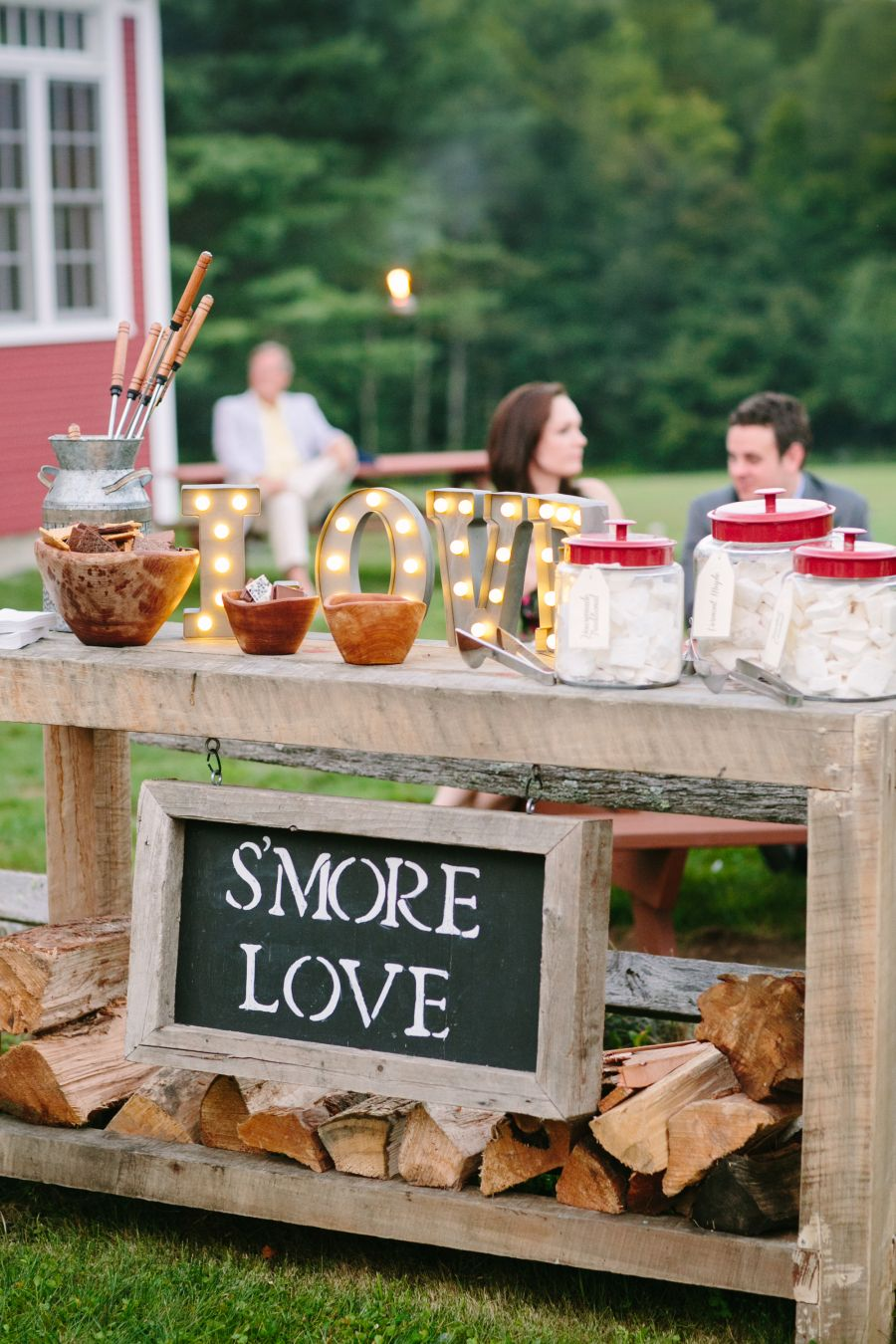 Wooden S'mores Bar Rustic Country Wedding Ideas