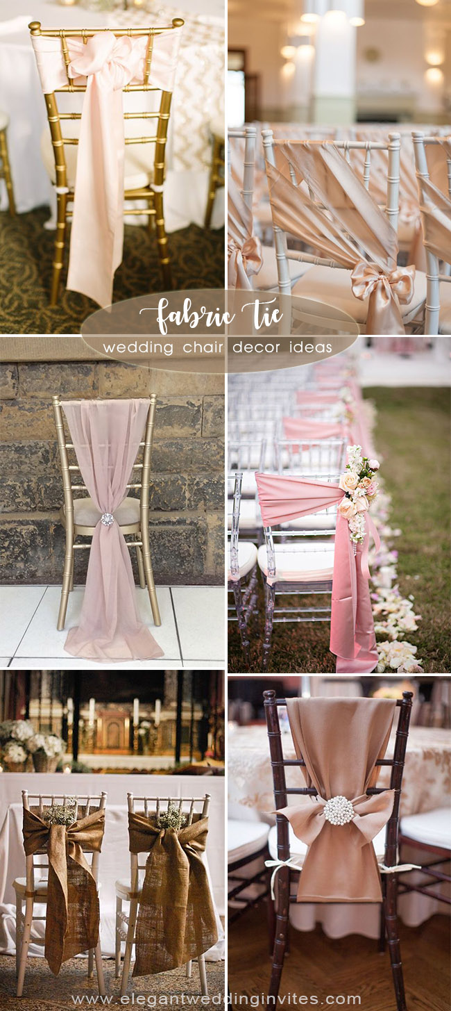 creative wedding chair tie decortion ideas