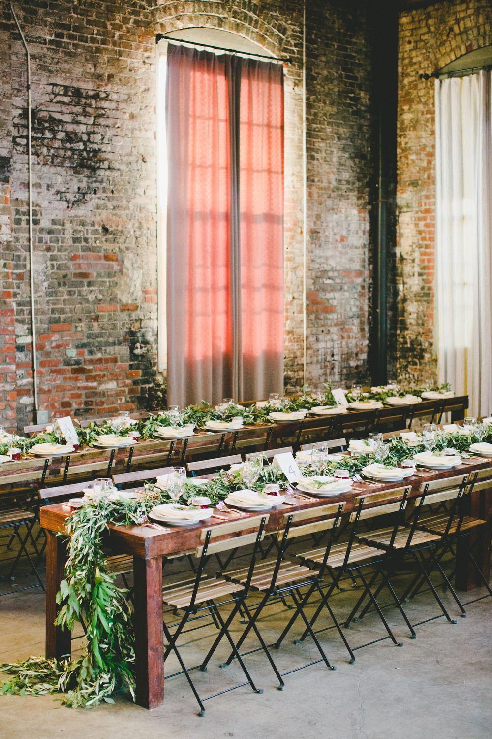downtown chic industrial wedding table ideas