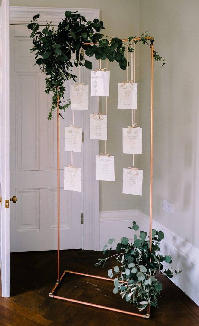 easy diy seating chart ideas for modern industrial weddings