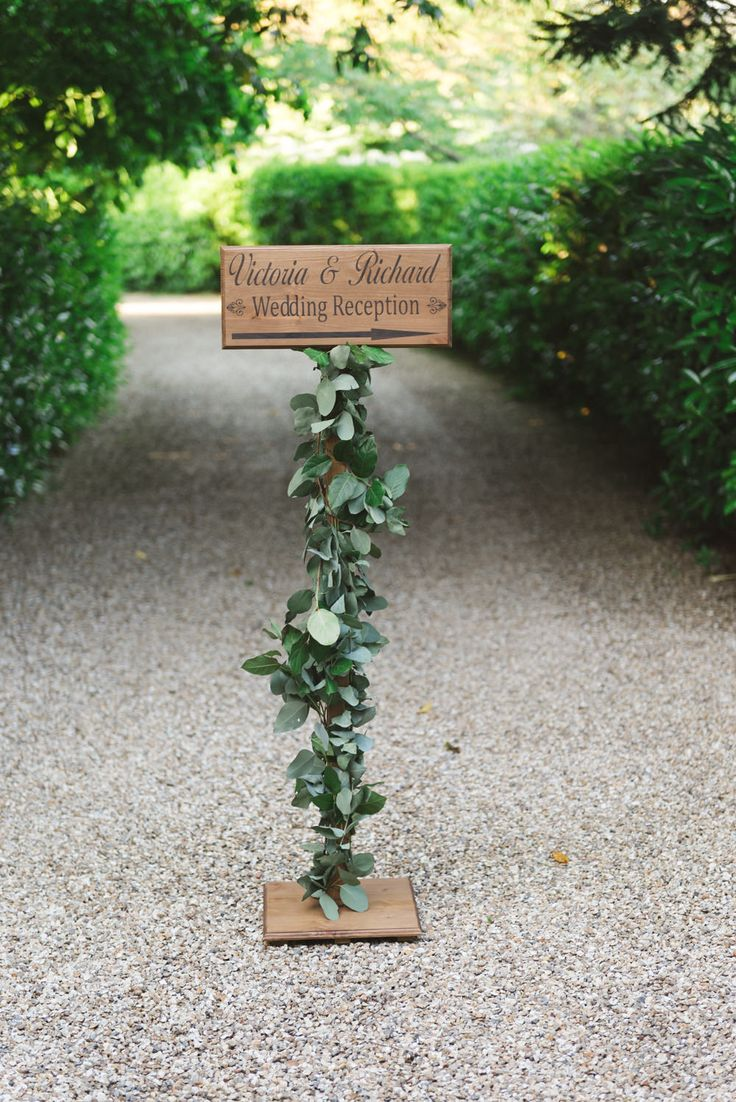 greenery wedding welcome sign ideas