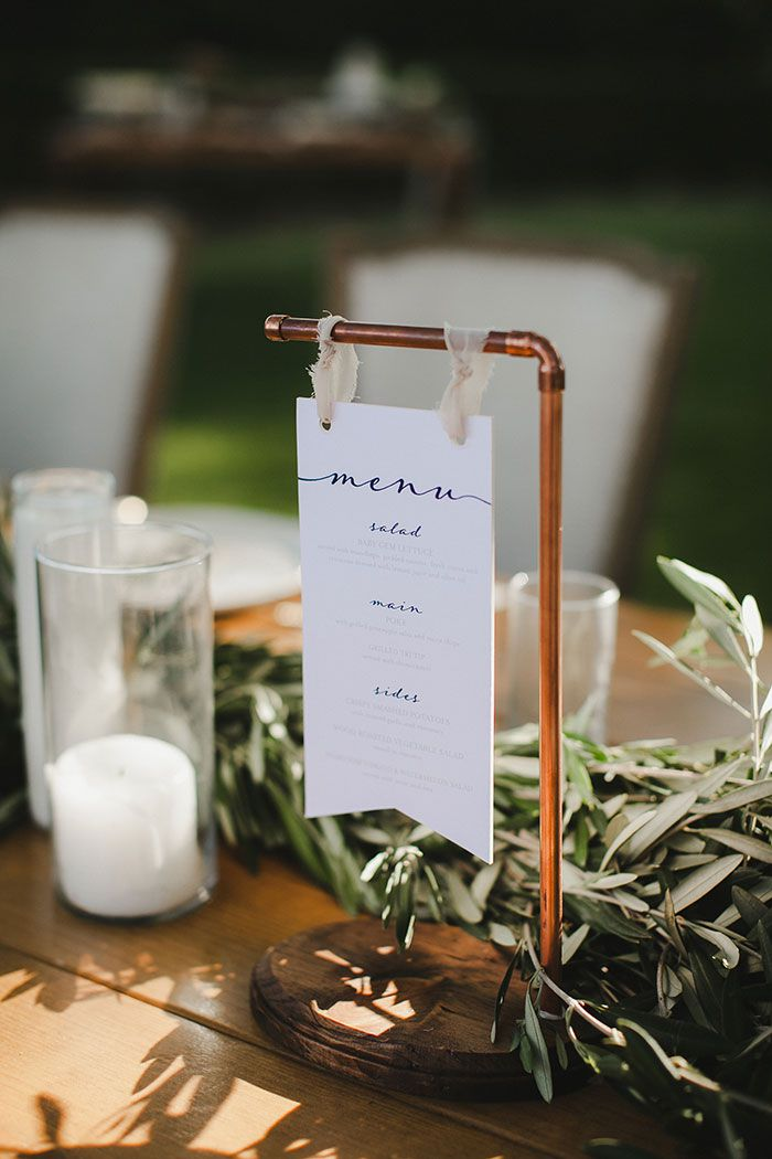 hanging simple menus for wedding reception sign ideas