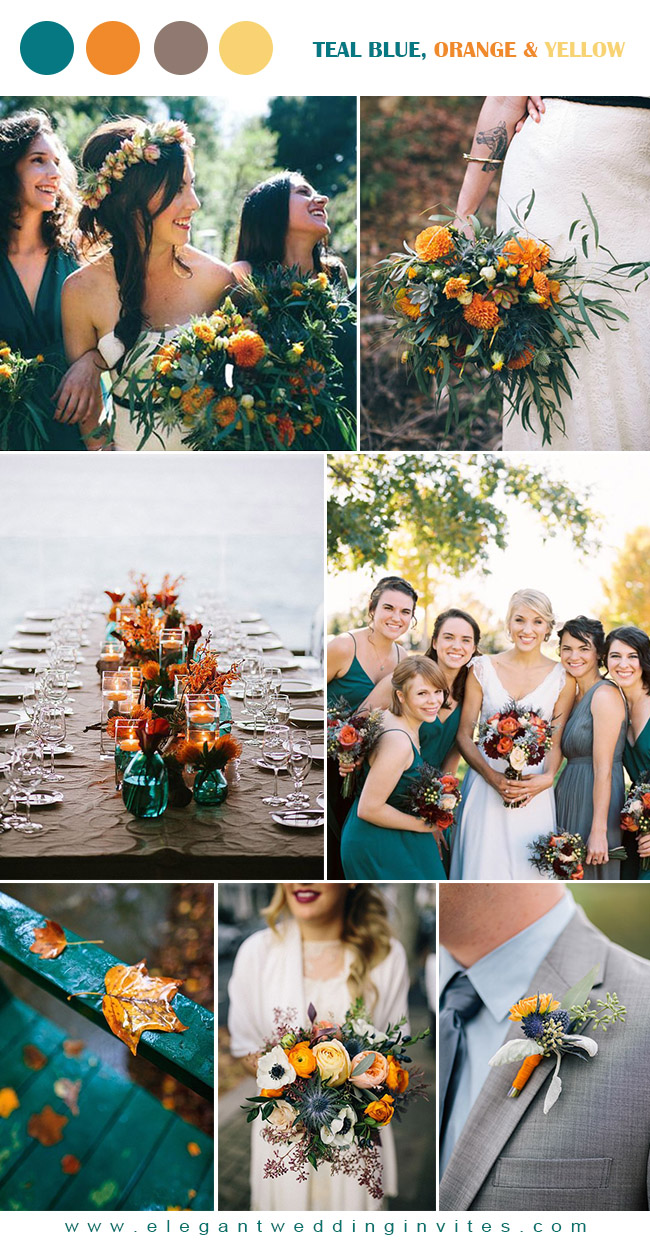 10 Stunning Wedding Colors For A Fall