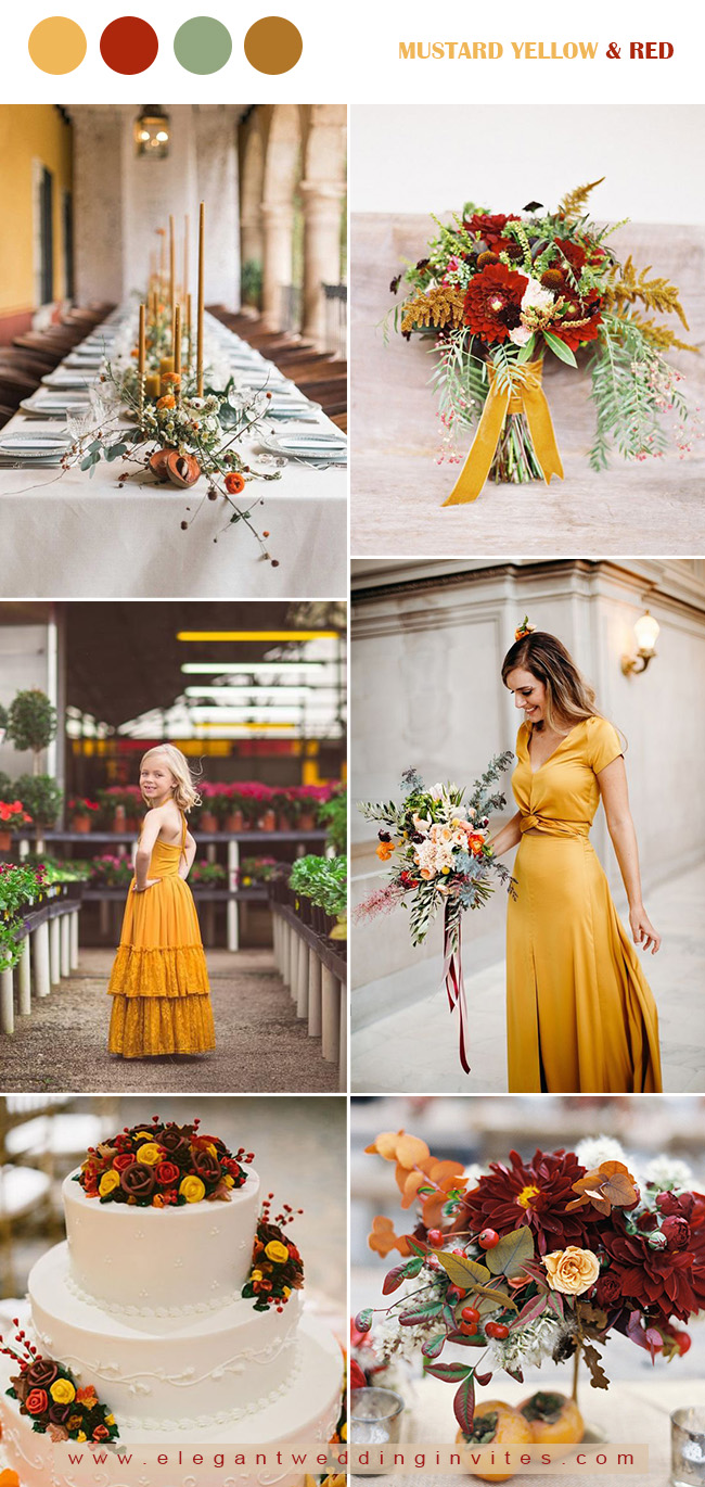 10 Stunning Wedding Colors for a Fall Wedding ...