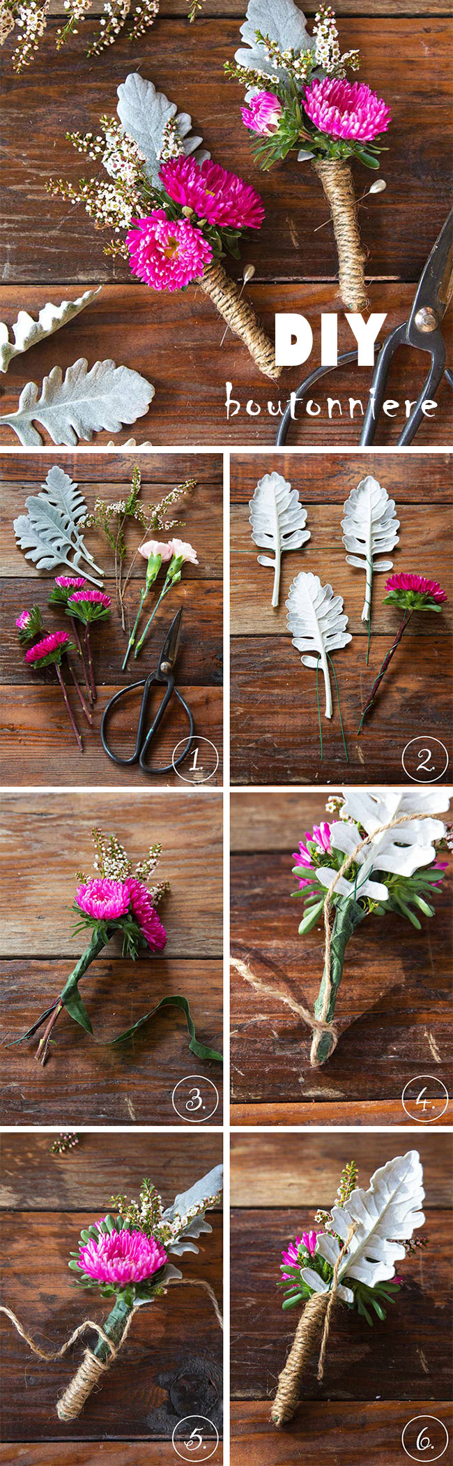 DIY Boutonniere for Your Groom and Groom's Men