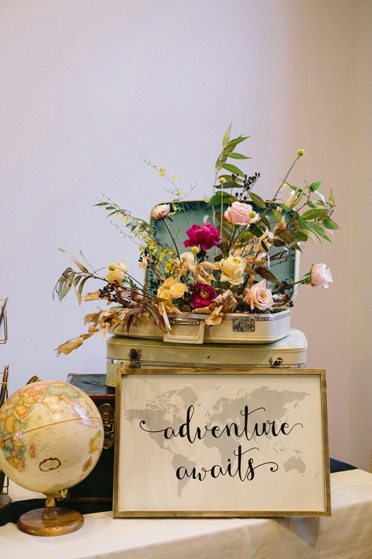 Travel Themed Vintage Wedding Decoration Ideas