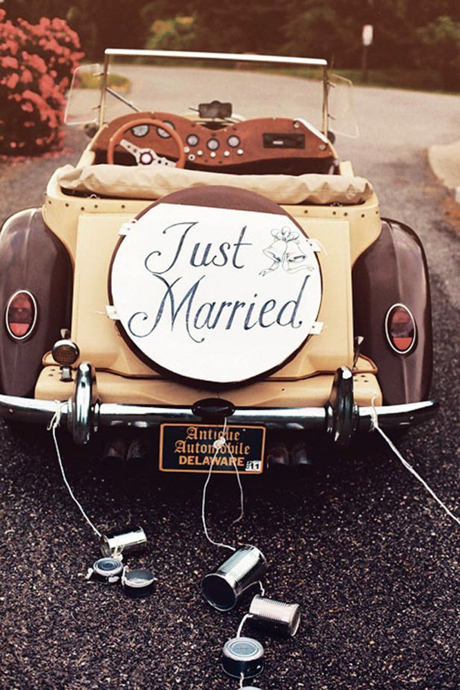 Vintage Wedding Car Decorations Ideas