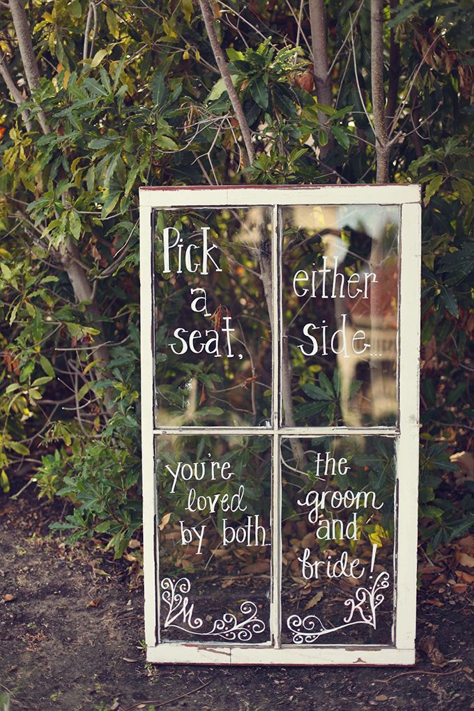 diy old window wedding sign ideas