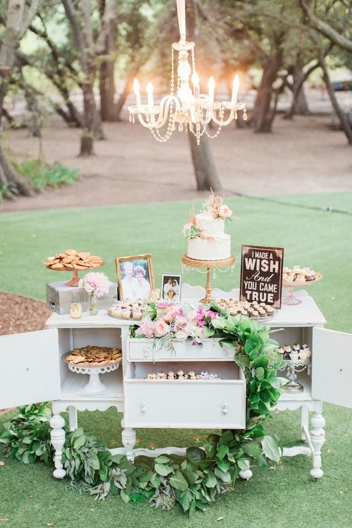 elegant vintage dessert table wedding ideas