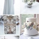 Glimmering Winter Wonderland Wedding Ideas in shades of Silver and Blue