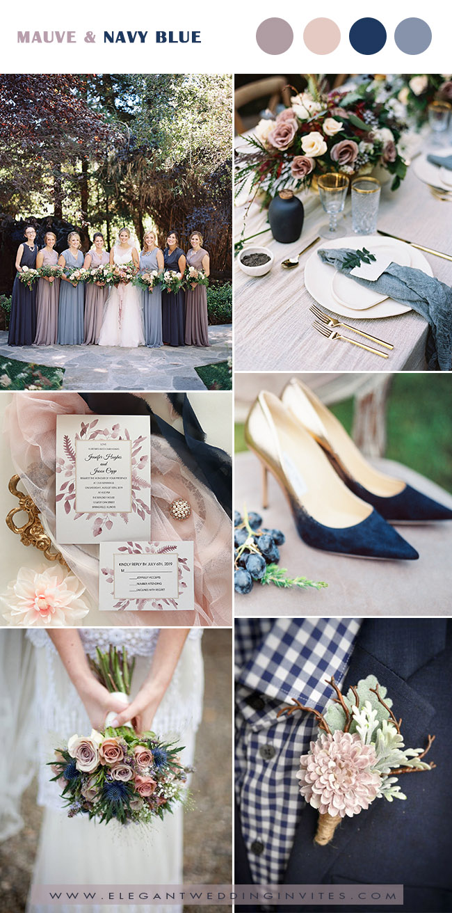 mavue, dusty blue and navy fall wedding ideas