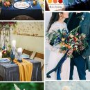 Trendy Wedding Color Ideas for Fall & Winter: Mustard Yellow