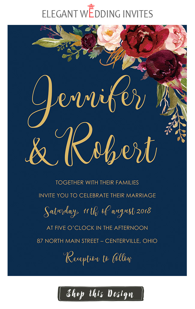 popular maple leaves rustic wedding invitations