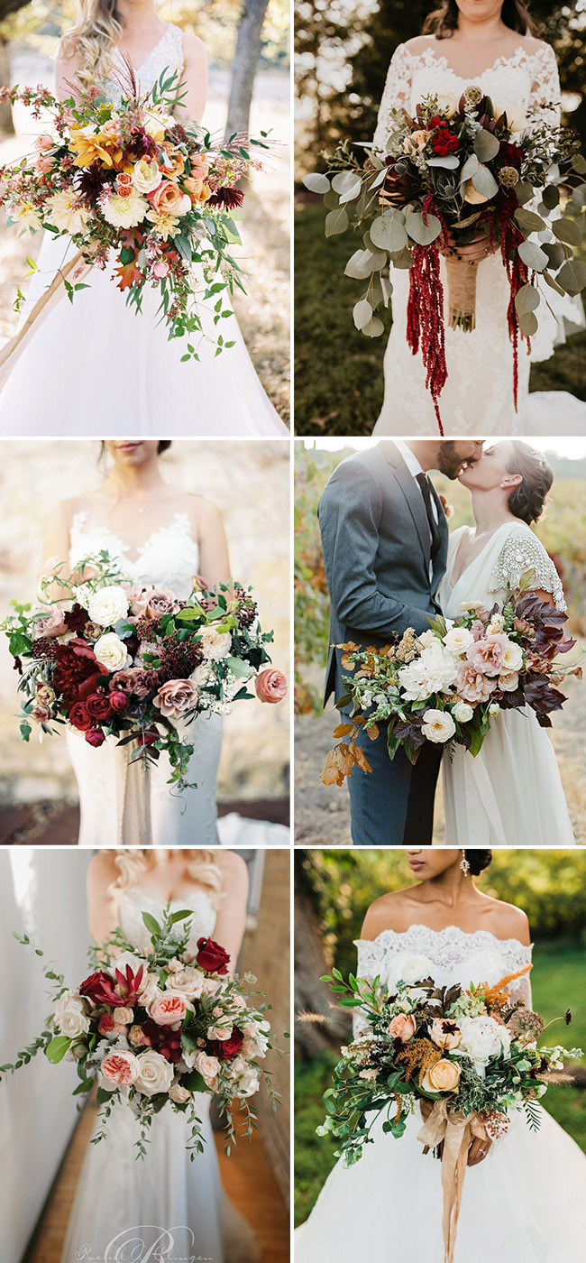 stunning fall and autumn wedding bridal bouquets ideas