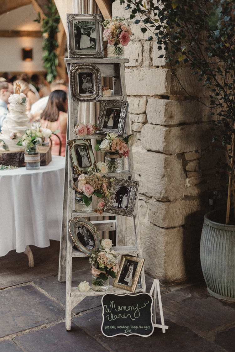stunning vintage ladder photo display decoration ideas