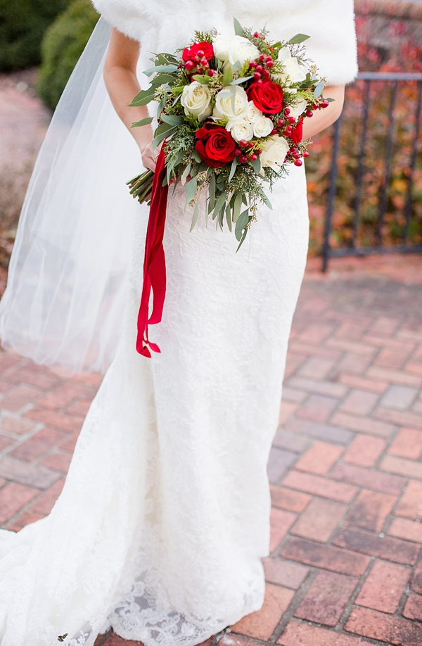 attractive white wedding dresses for winter brides