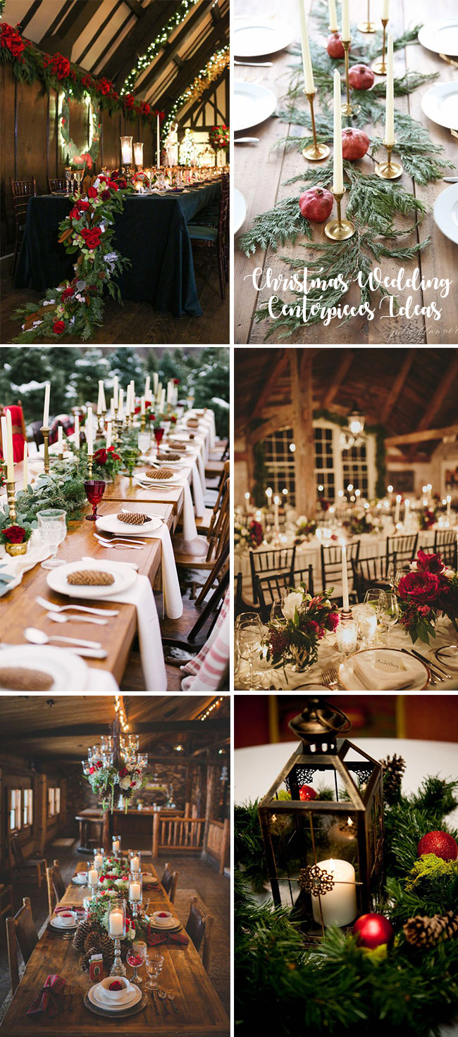 awesome christmas festival winter wedding centerpieces ideas - Christmas Wedding Decorations Ideas
