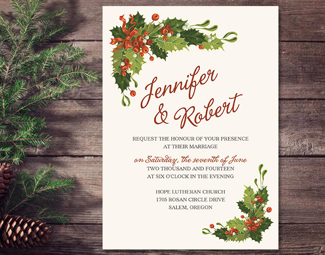 cheap christmas wedding invitations