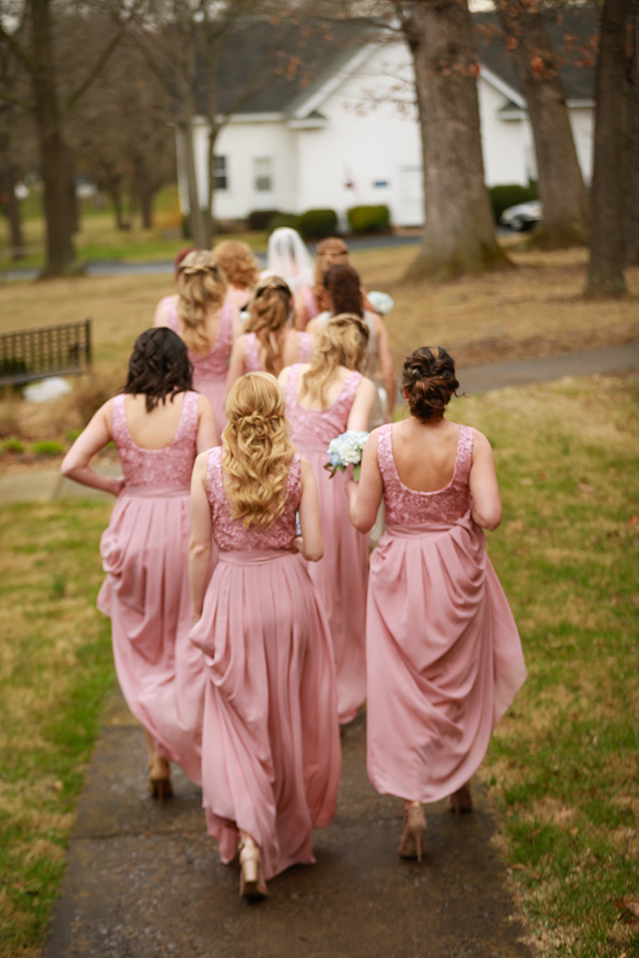dusty rose bridesmaid dresses from Tulle and Chantilly