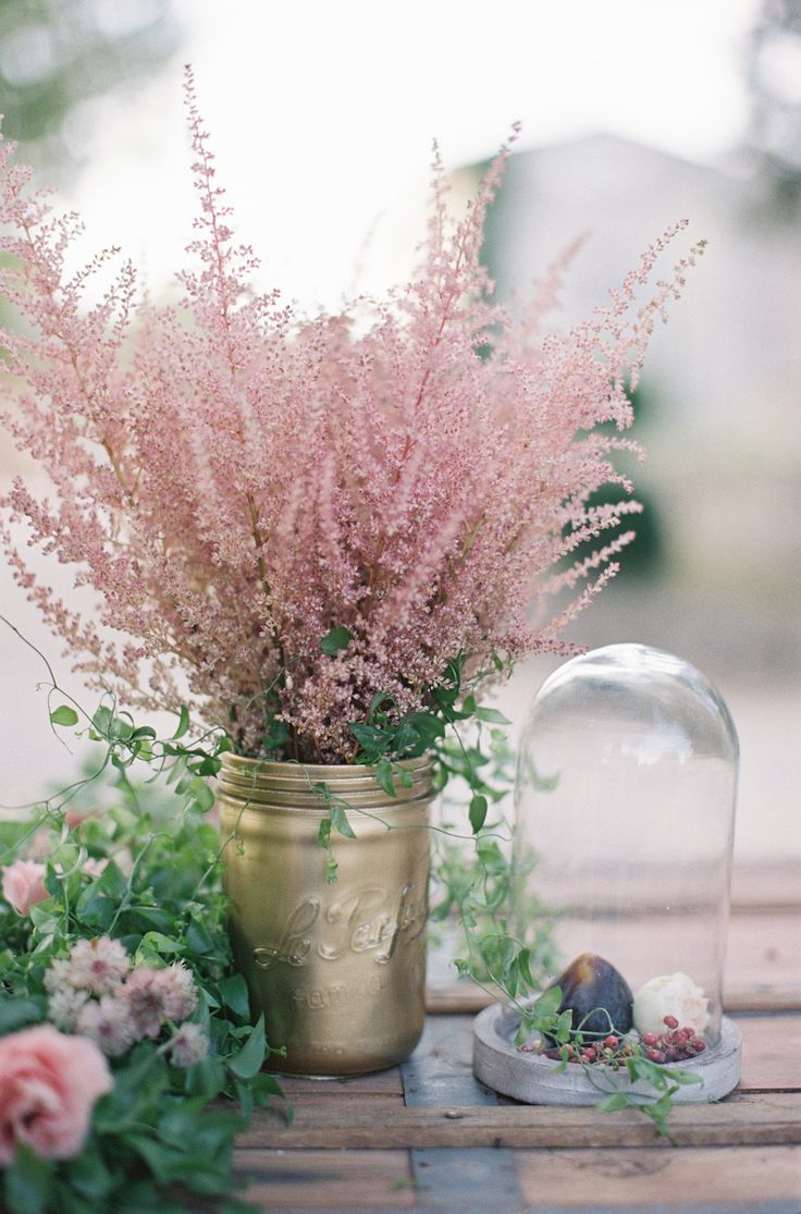 dusty rose color inspired wedding centerpiece ideas