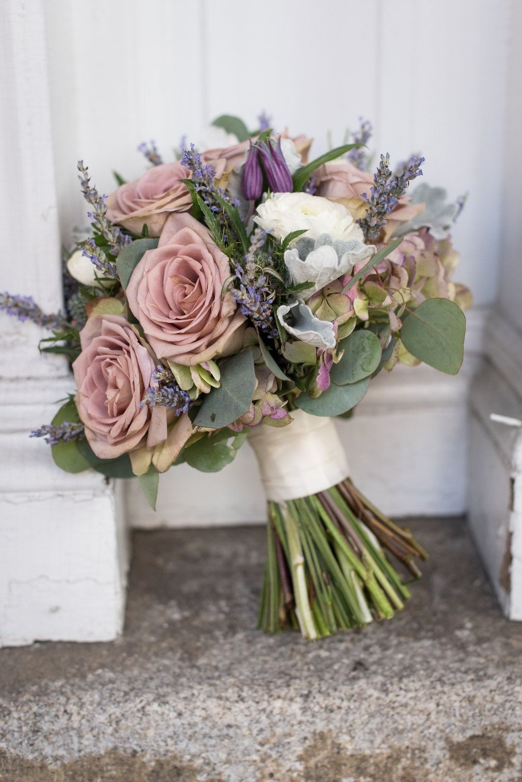 dusty rose vintage wedding bouquets ideas