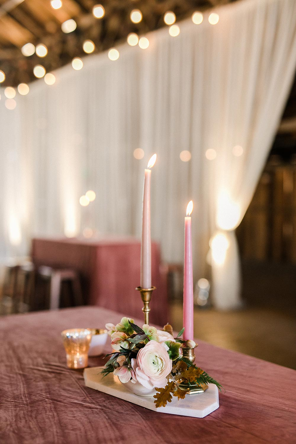 modern dusty rose wedding decoration ideas