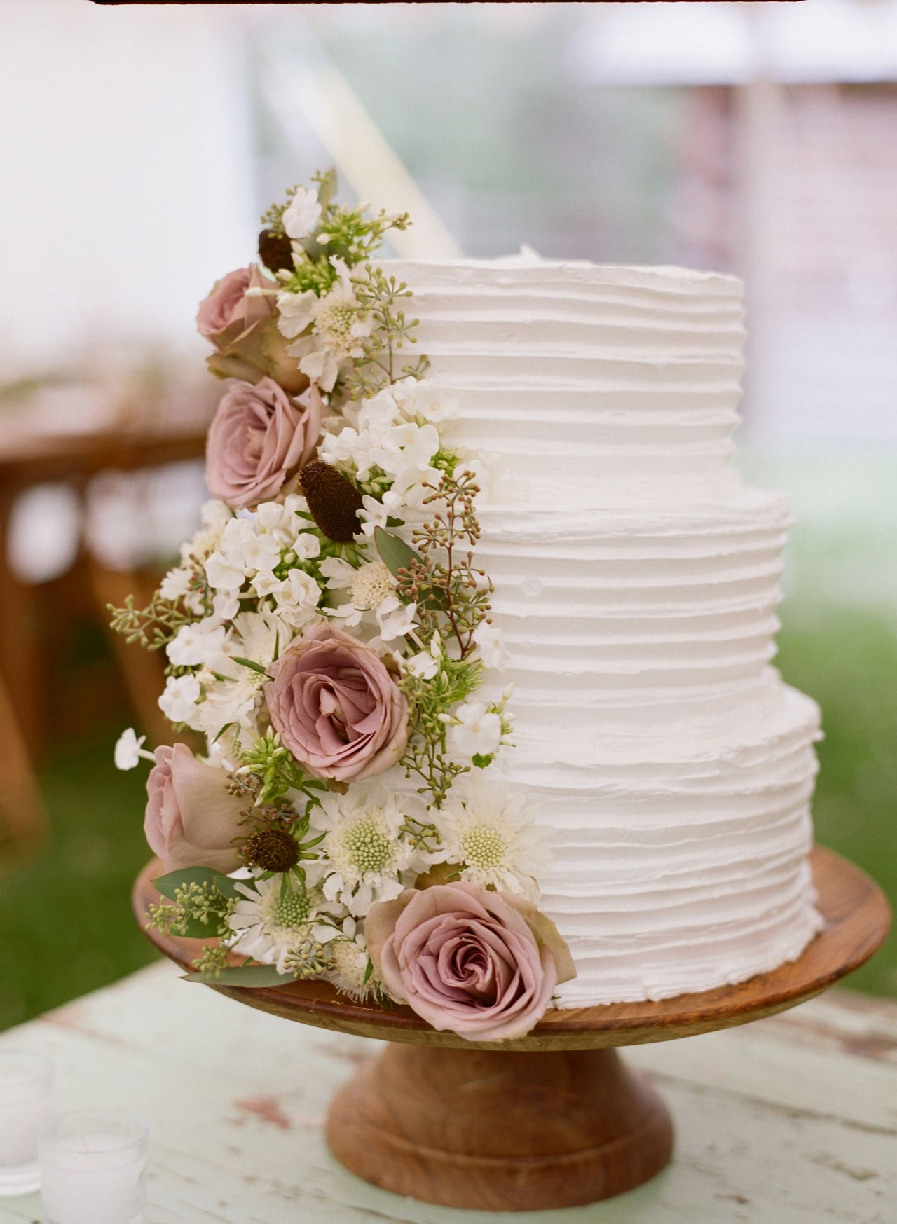 pretty dusty rose wedding cakes