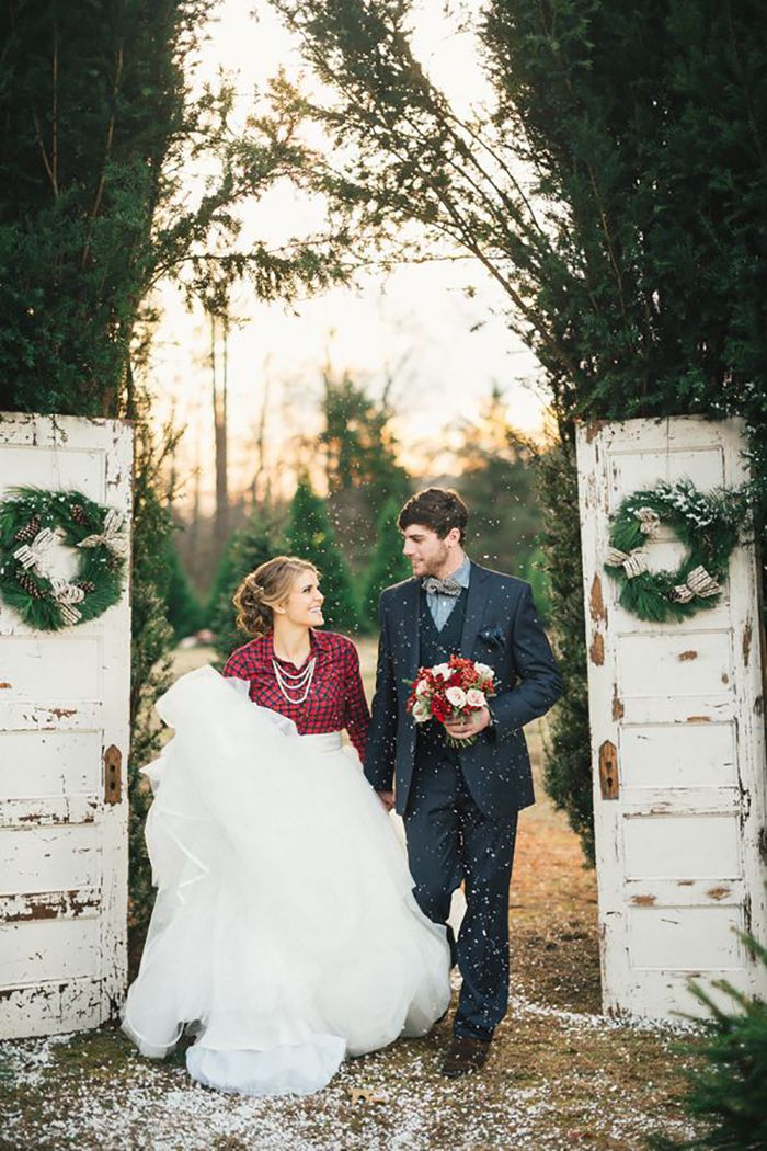 romantic winter wedding photo ideas
