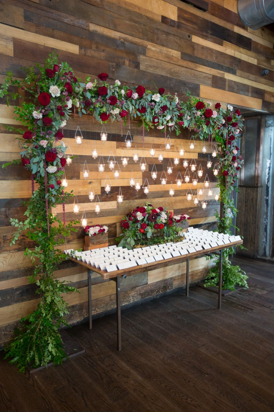 stunning christmas theme winter wedding seating chart ideas
