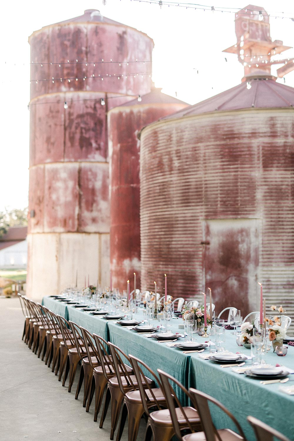stunning dusty rose and dusty blue wedding ceremony ideas