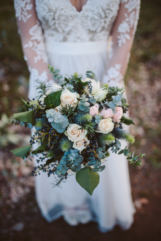 Dusty Rose Bouquet