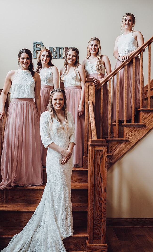 trendy dusty rose wedding colors for bridesmaid dresses