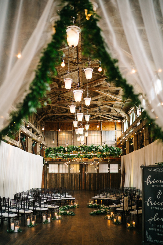 green and white romantic rustic barn winter wedding ideas
